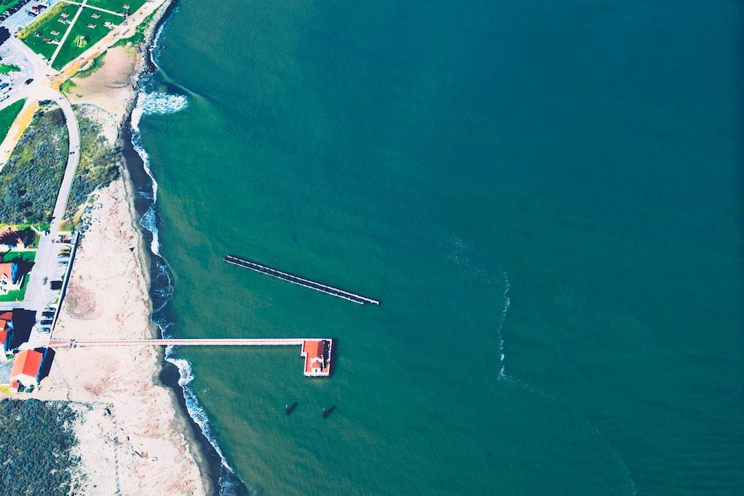 Coastline drone view