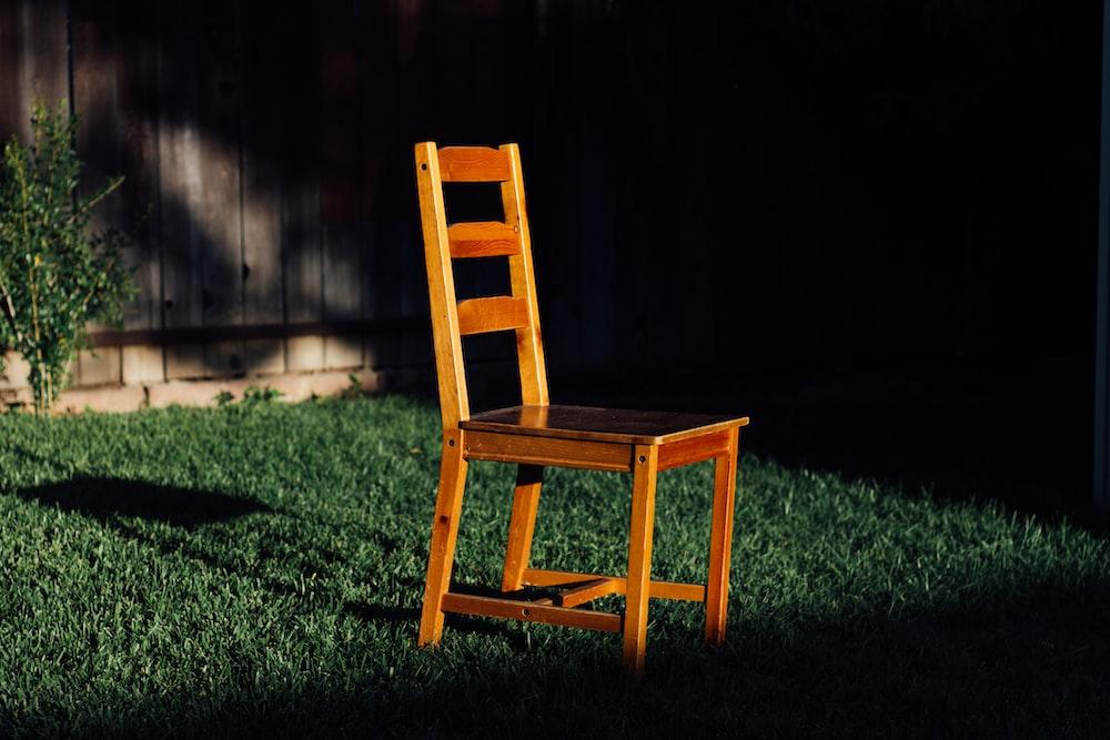 chair on grassland