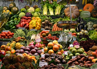 assorted fruits at the market