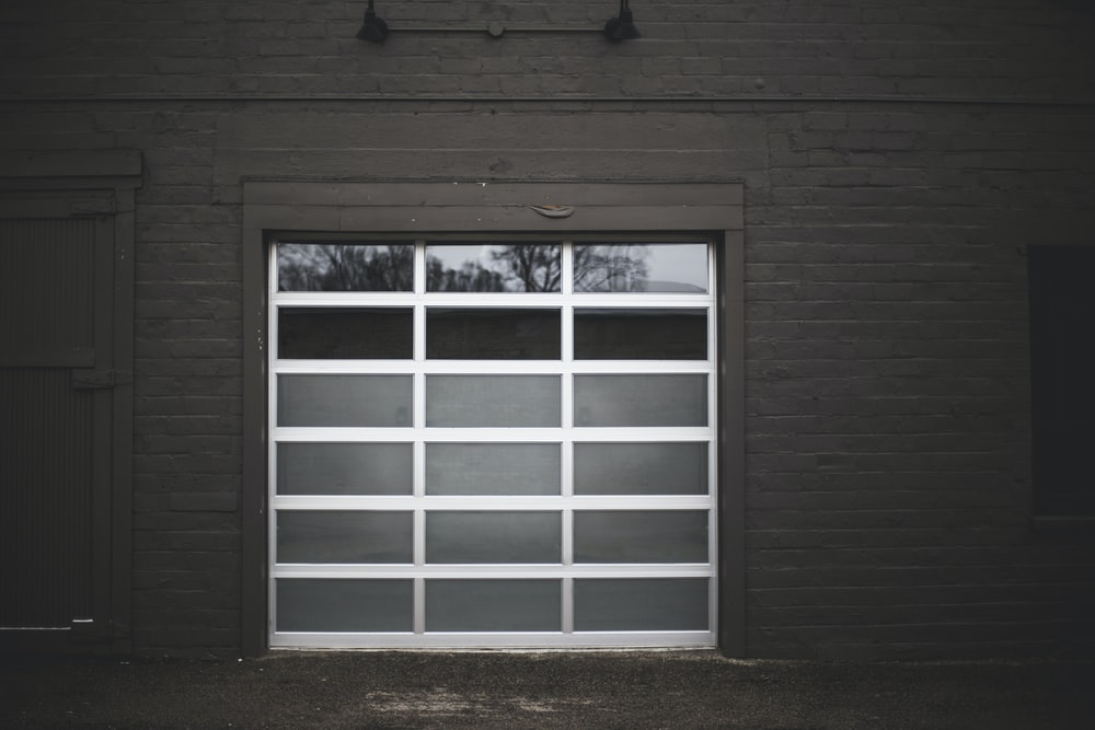 white metal window frame