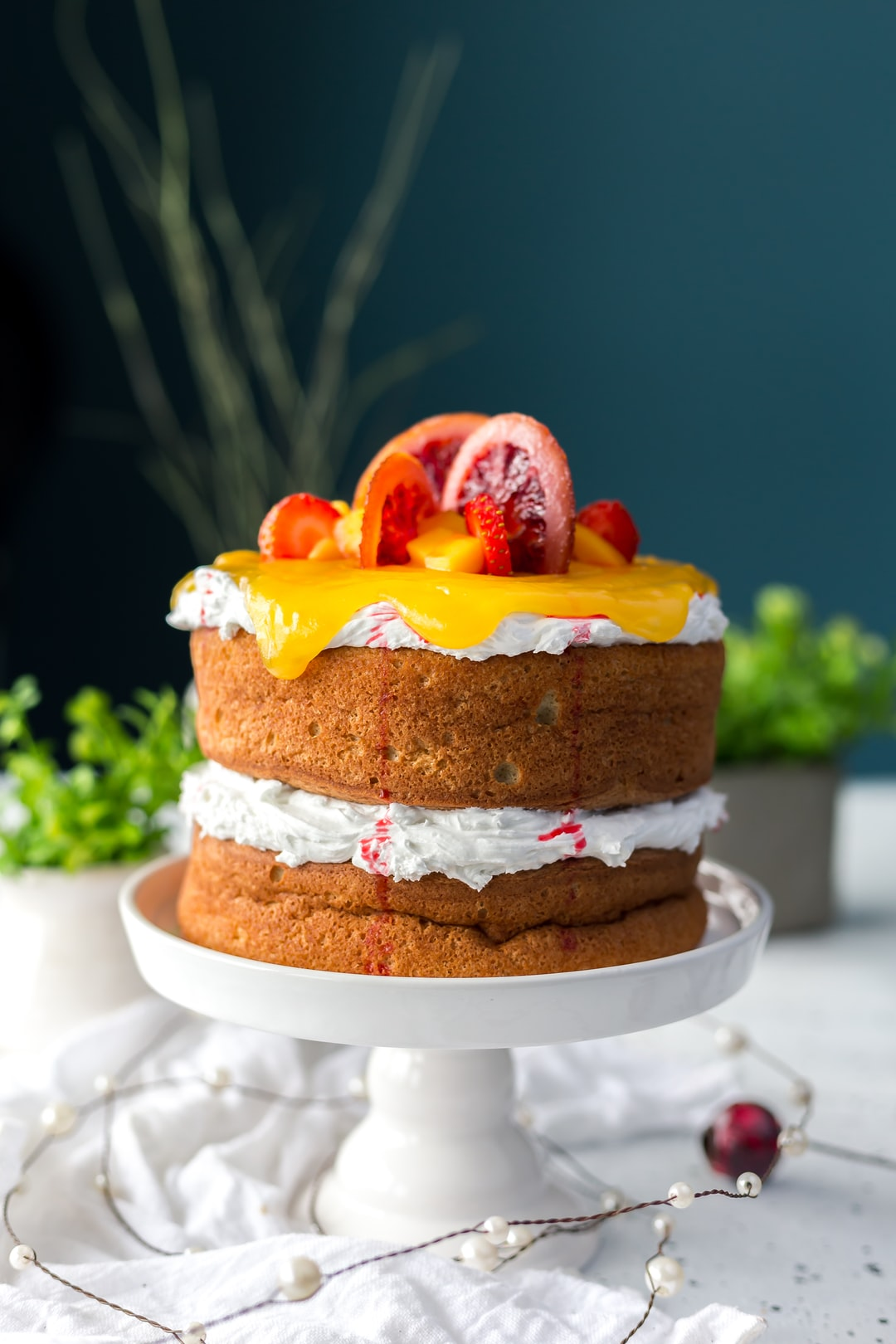 Topped with candied blood orange slices, this cake is the epitome of pure decadence.