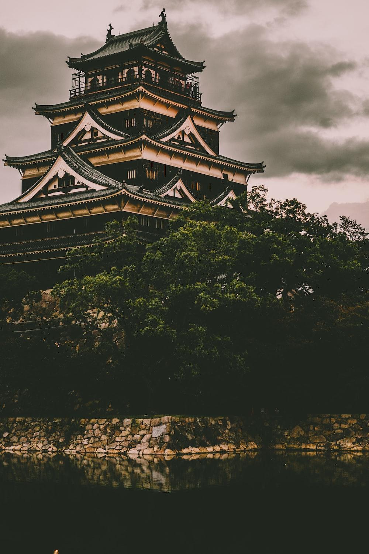 beige and black concrete castle