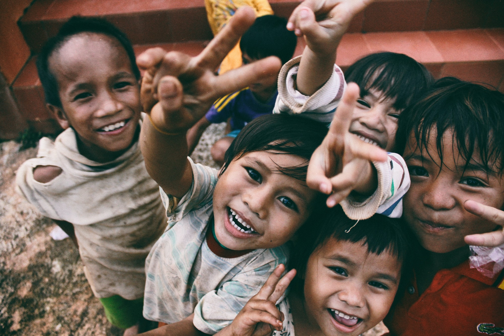 Happiness of the poor children. Taken in Chupah district, Gialai province Vietnam.