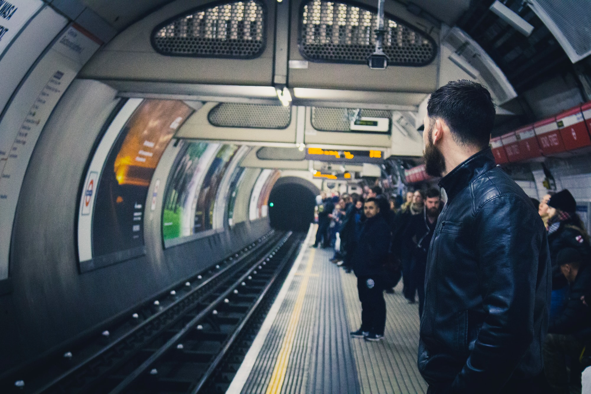 We often travel around London on the underground. Going to restaurants, the cinema, or rock climbing –yes, rock climbing. The tubes are very efficient but the stations themselves are each unique in their own little way, some have buskers, others artwork, some have escalators and others lifts, but what's most unique are the people. There are always different people going to their different places.