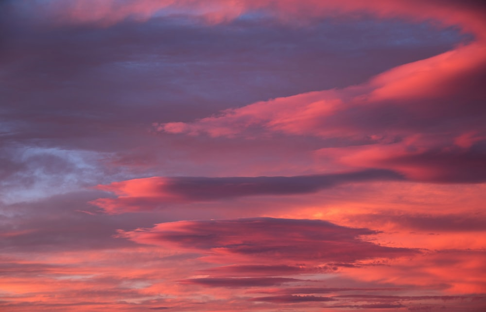 cloudy sky during orange sunset