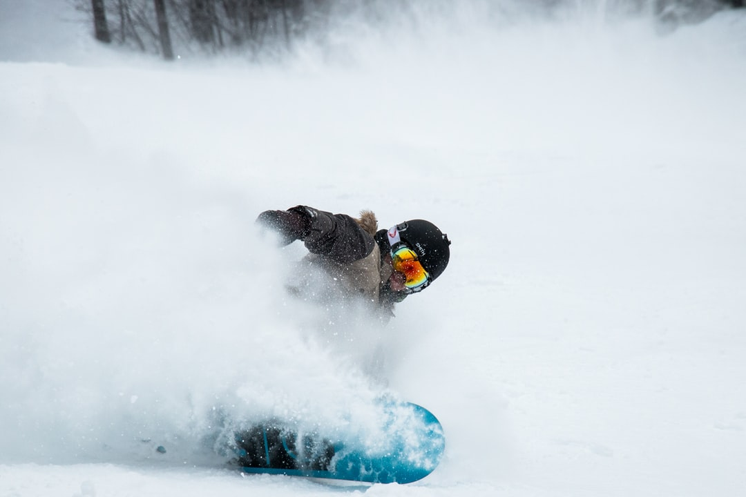 Snowboarder at resort