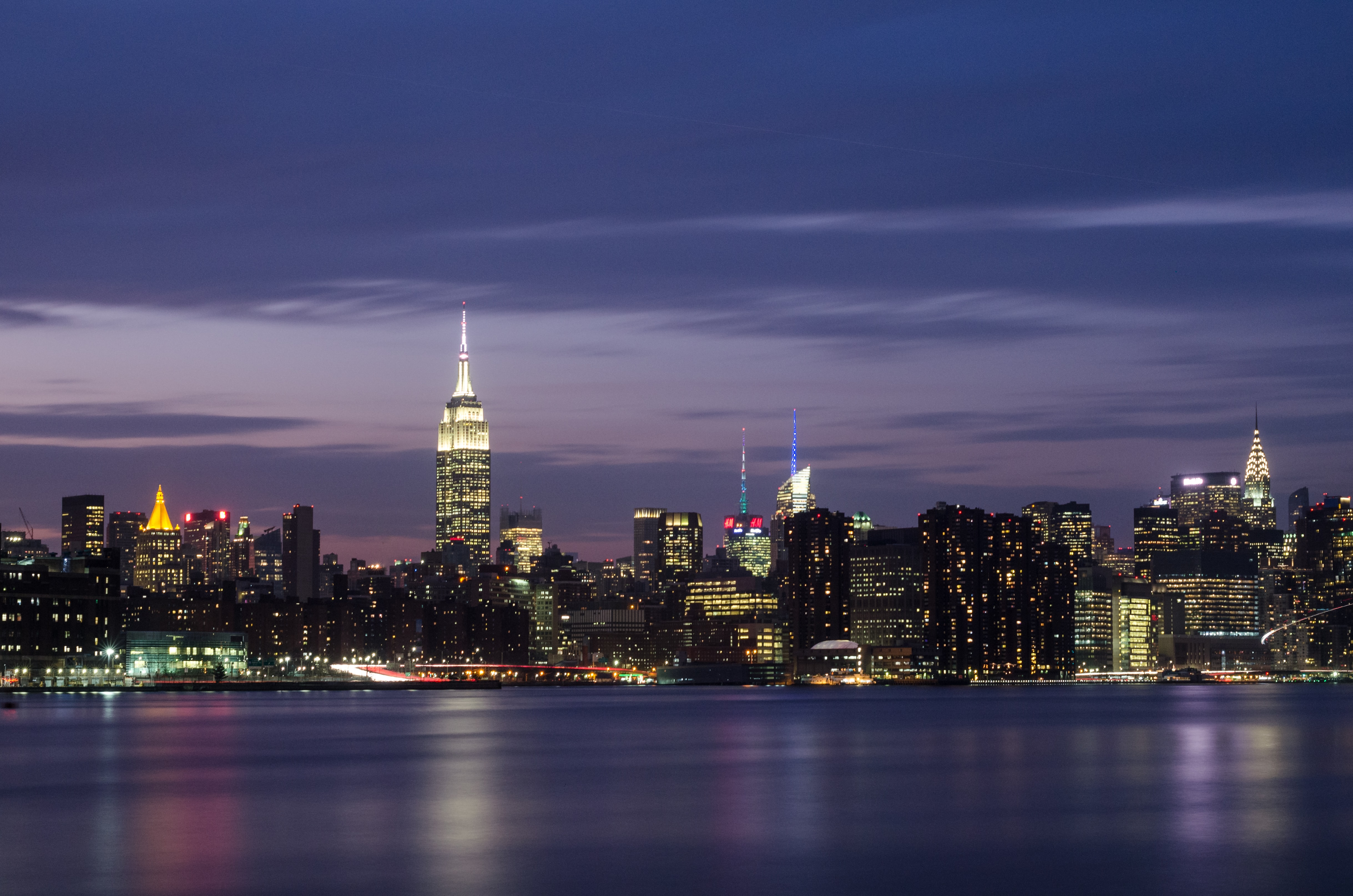 New York city during nighttime