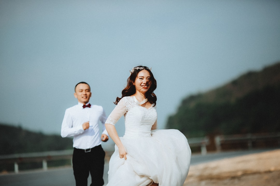 Bride running from groom Vietnam