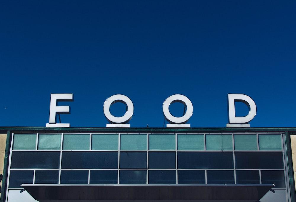 photo of white Food signage