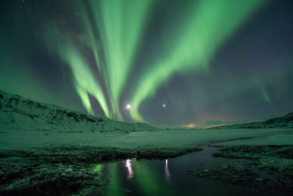 photography of aurora borealis