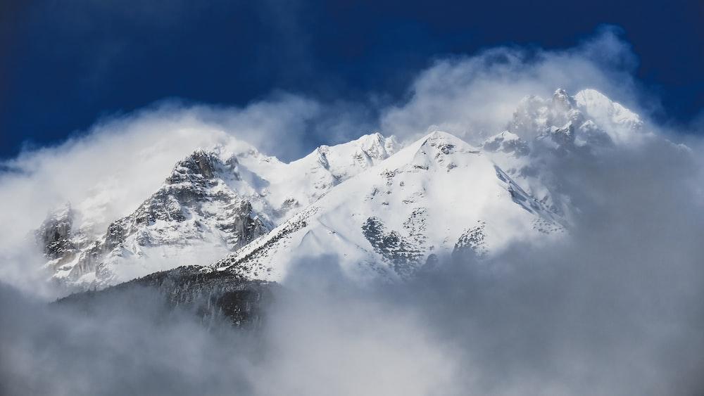 landscape photo of white mountains