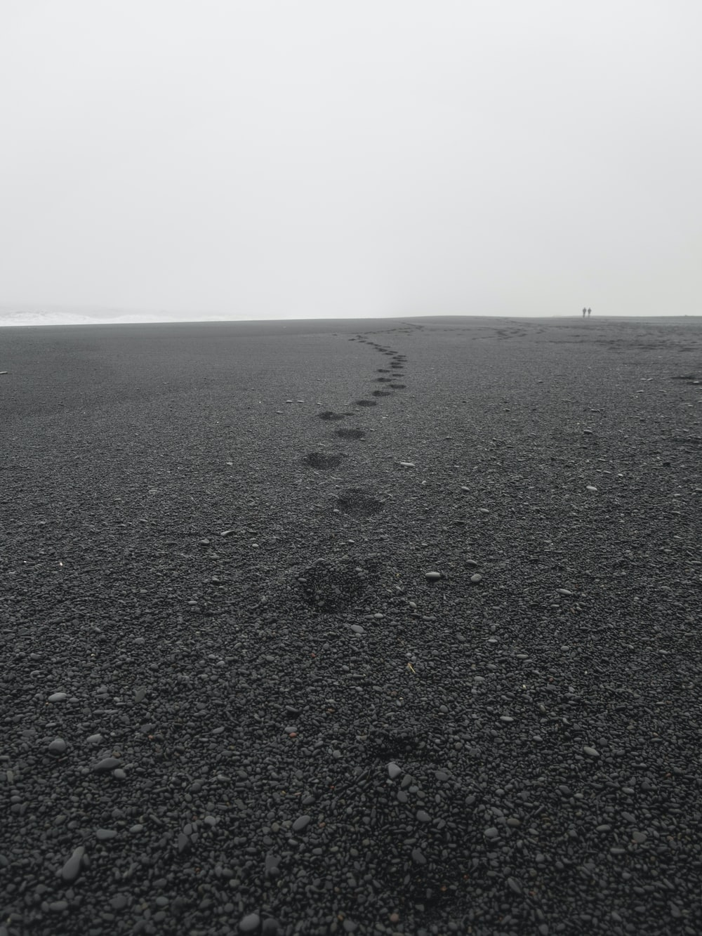 black sand and stones