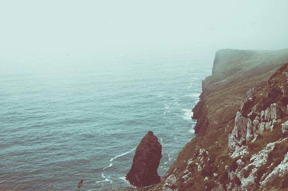 landscape photo of cliff