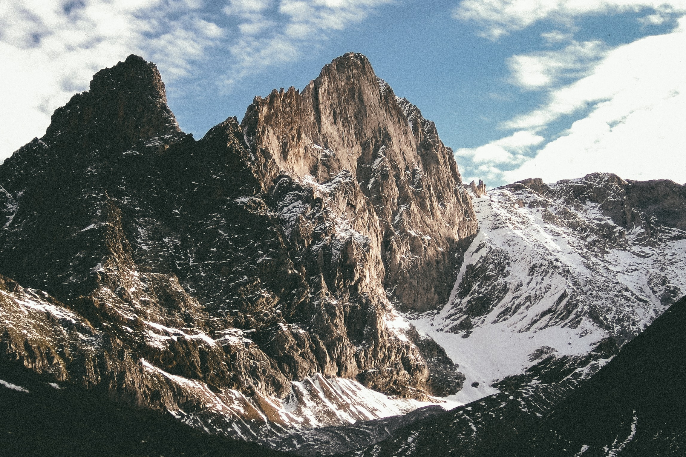 A steep granite ridge in Vanoise National Park