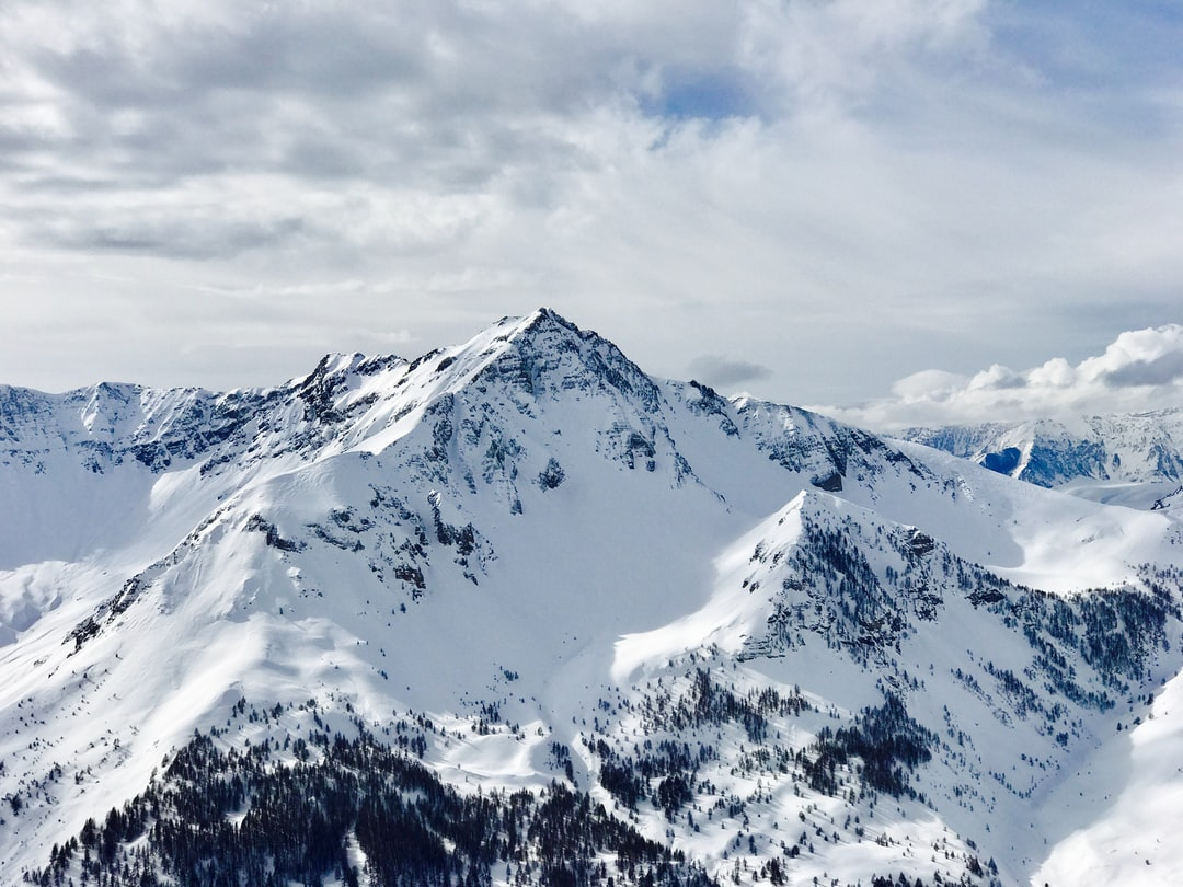 Taken from the highest run at Auron ski center, France. Shot on iPhone.