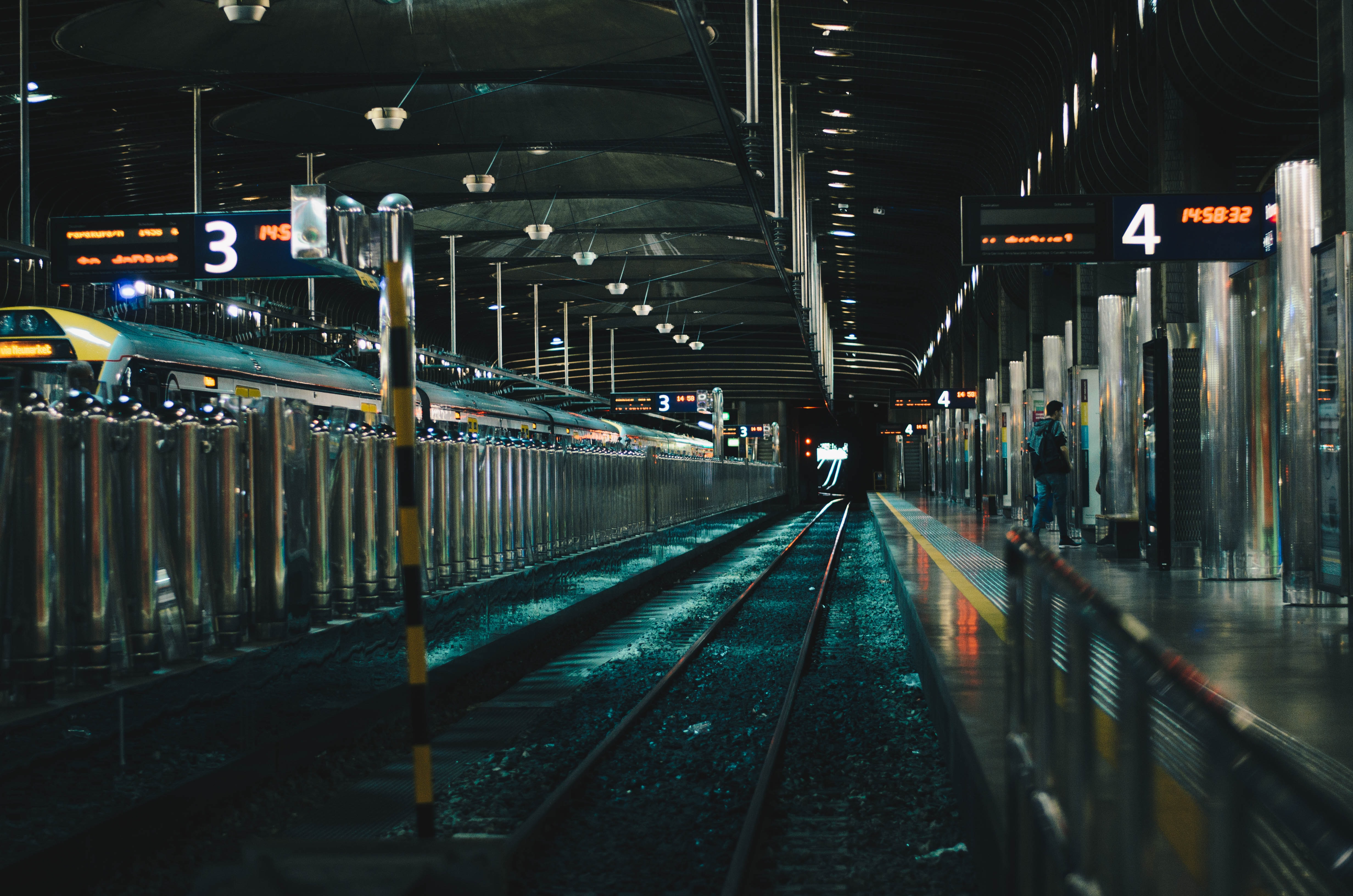 An empty platform at a railway station in Auckland
