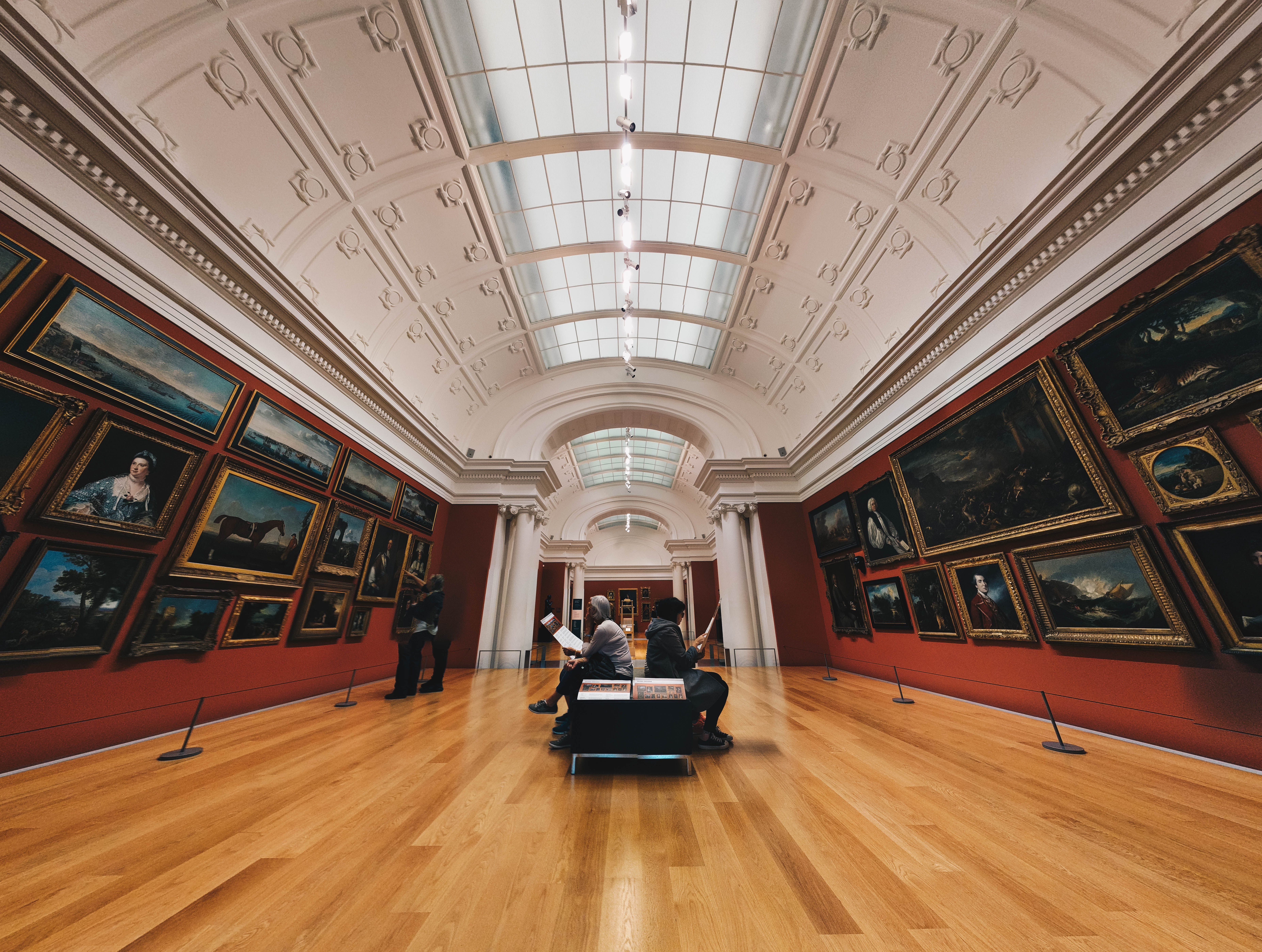 photo of people in museum
