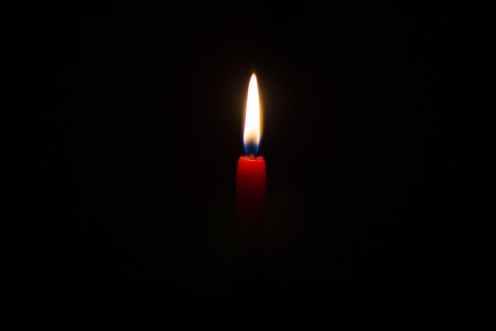red lit candle