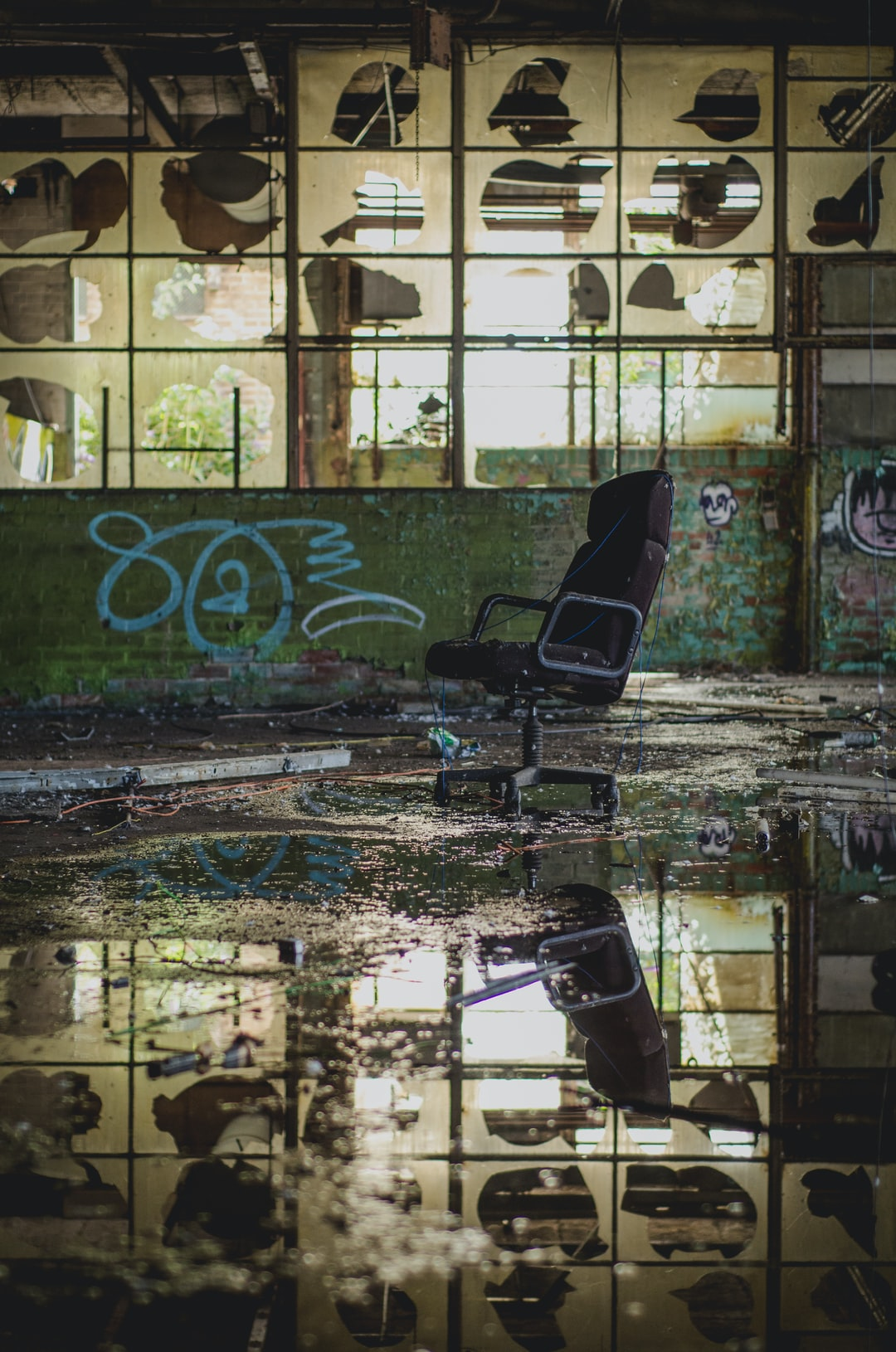 An abandoned Sheffield warehouse.
