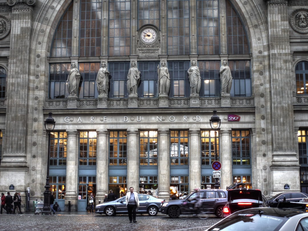 Main entrance of the Gare du Nord in Paris with HDR effect.