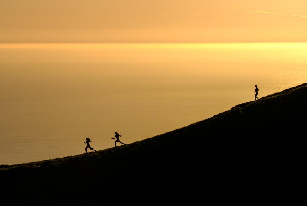 Running down Mount Tamalpais in gold