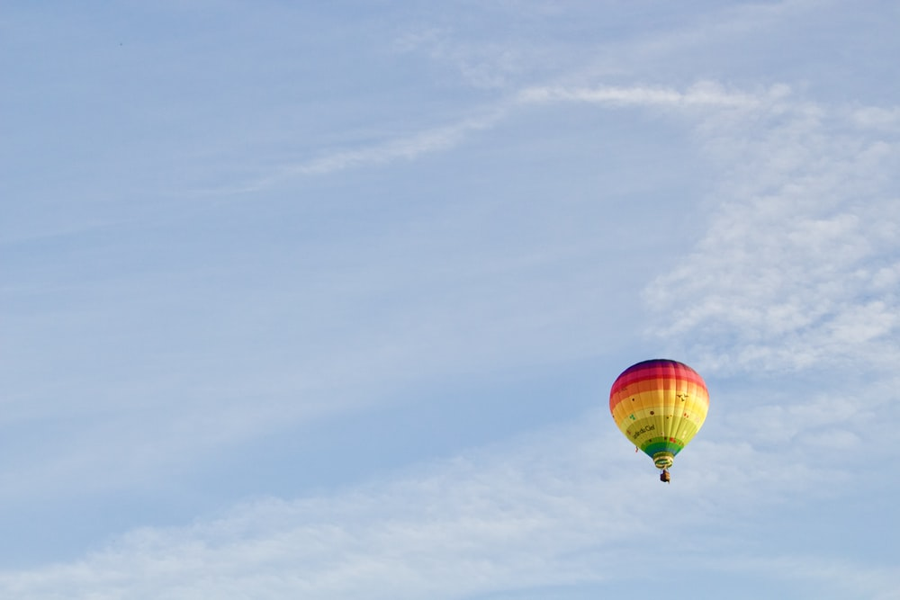 rule of thirds photography of hot air balloon