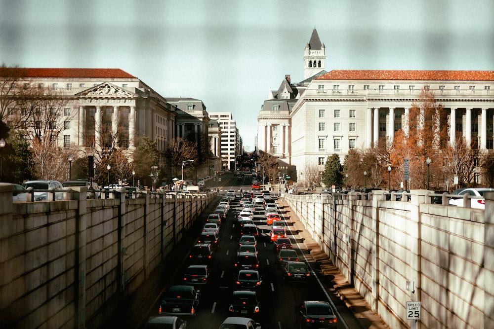 cars beside buildings