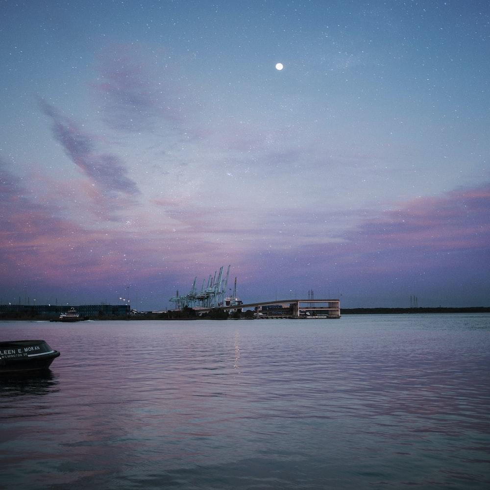 dock and ocean water