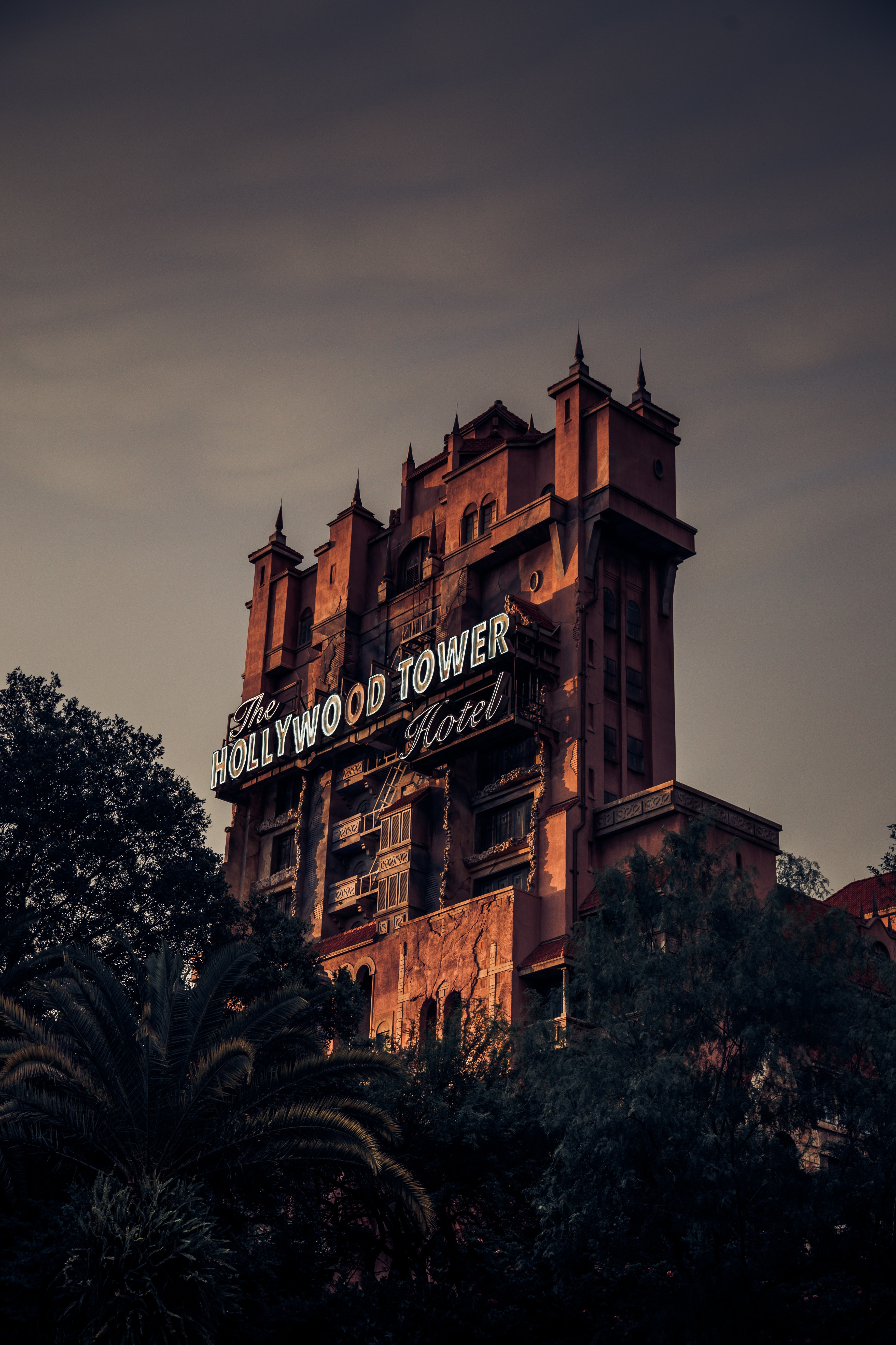 architectural photography of The Hollywood Tower Hotel