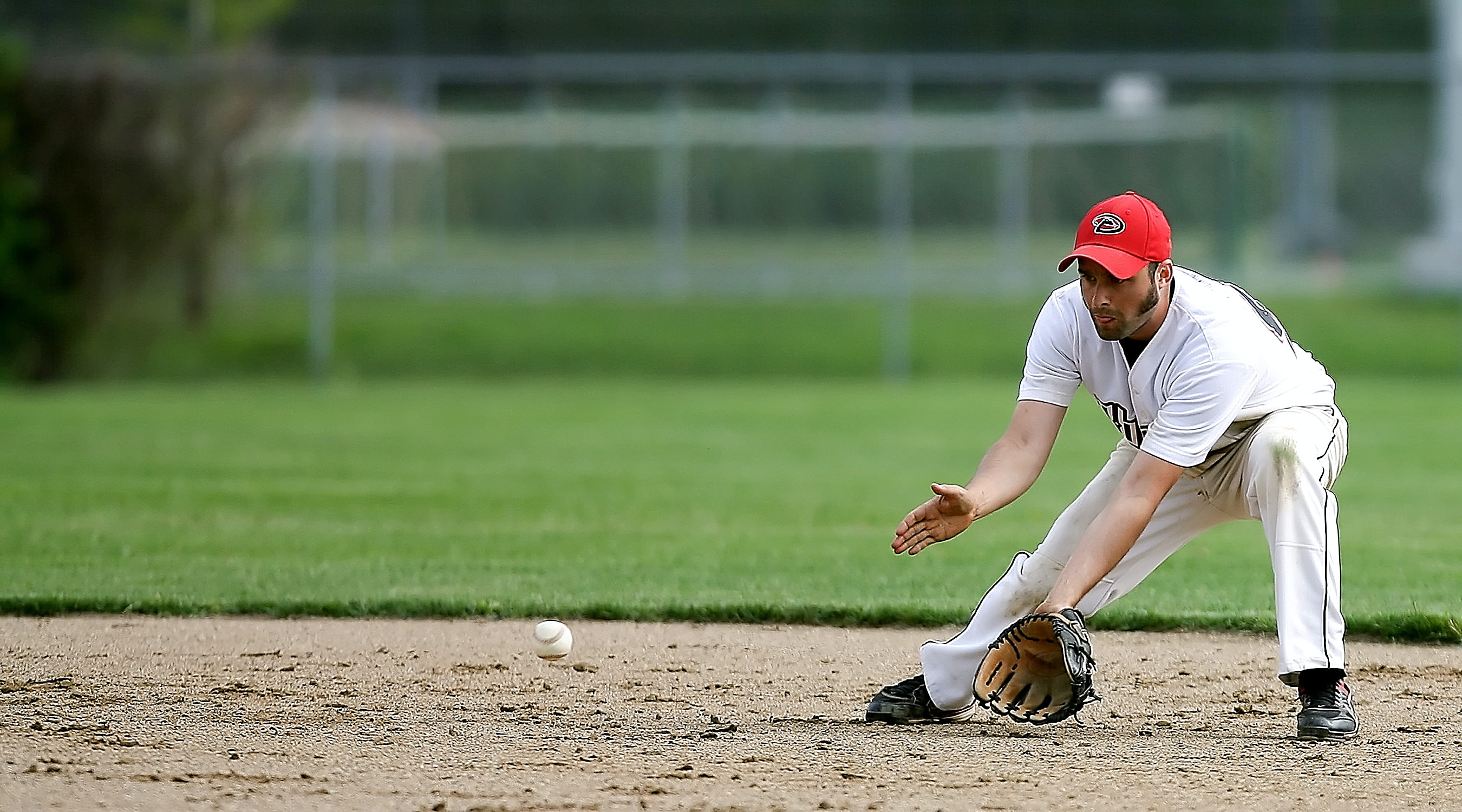 man playing baseball
