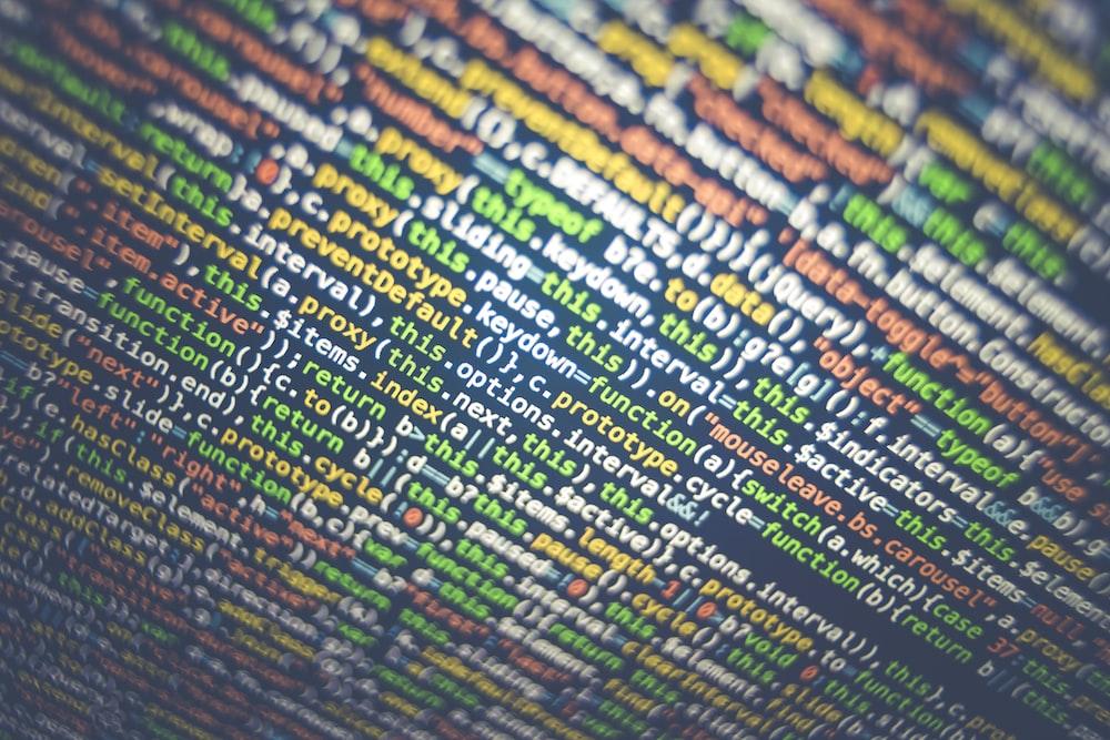 tilt-shift photography of HTML codes