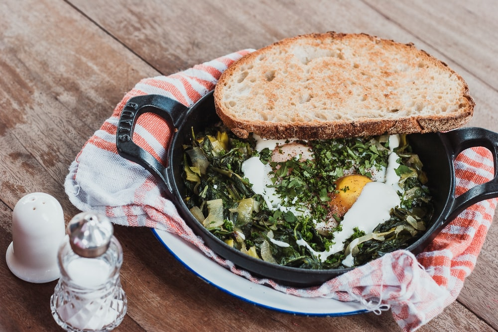 cooked egg dish on pan