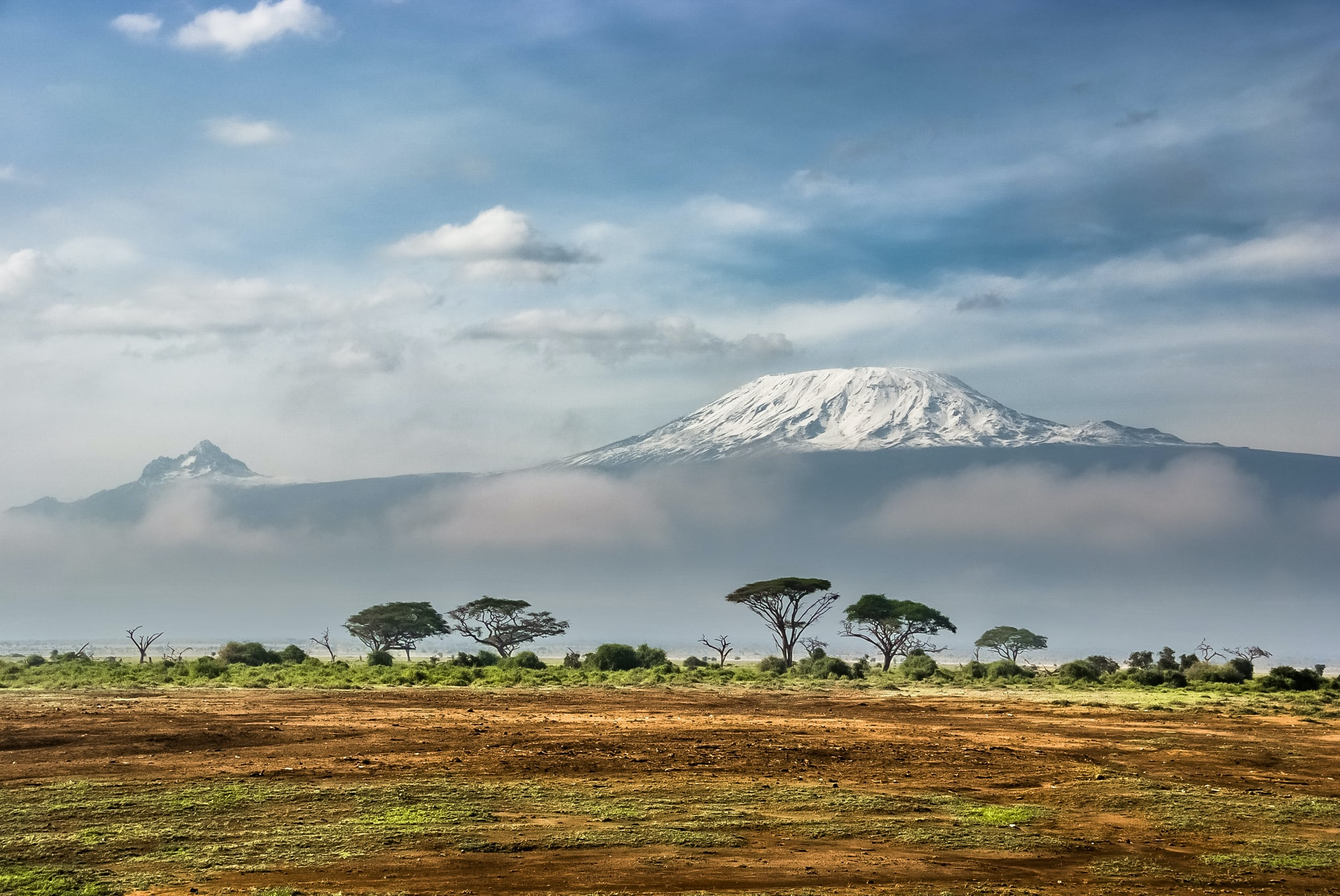 View of Kilimanjaro from Amboseli National Park, Kenya.
