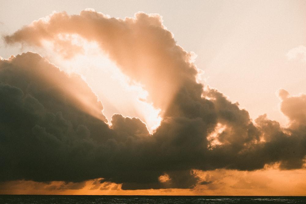 grey clouds block sun