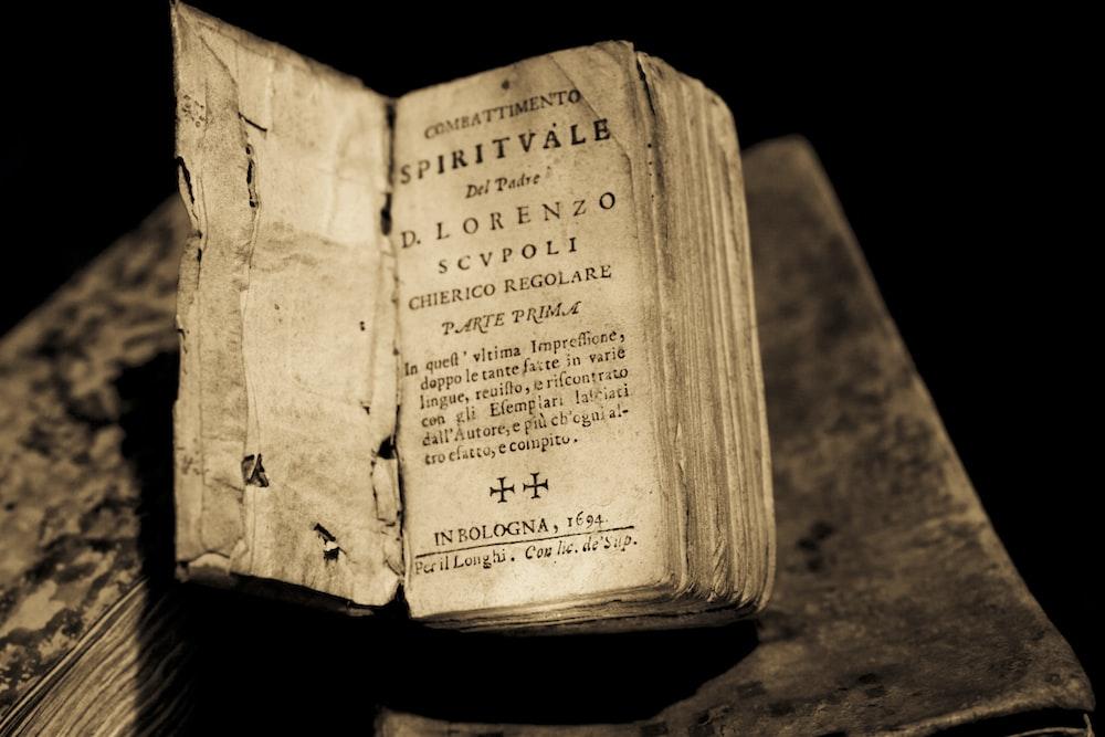 opened Sprivale book
