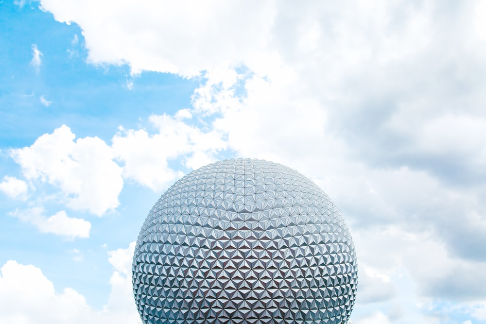 round grey architectural structure