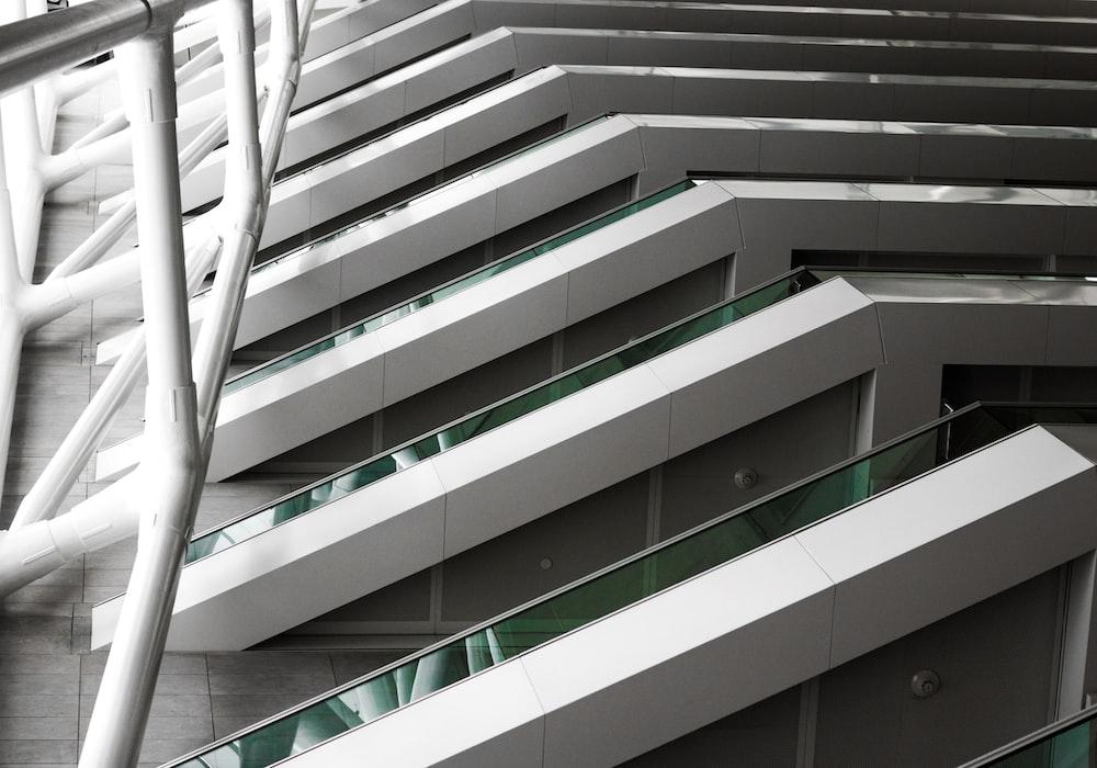 closeup photography of white concrete building