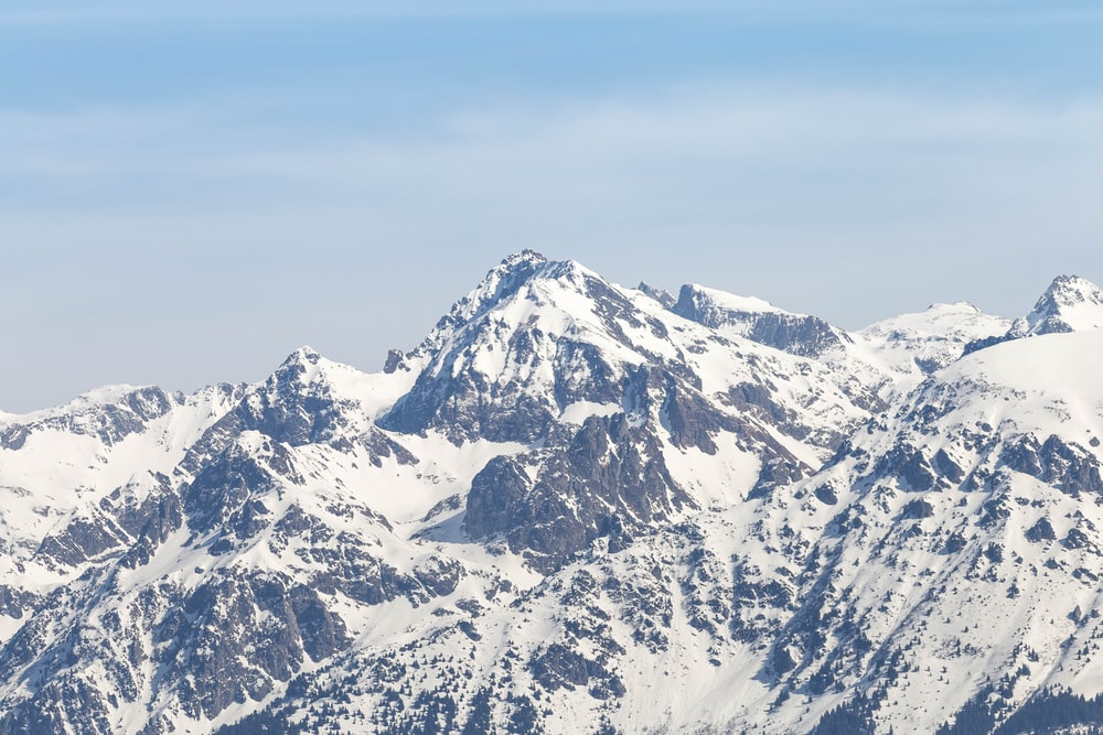 landscape photography of mountain covered by snow