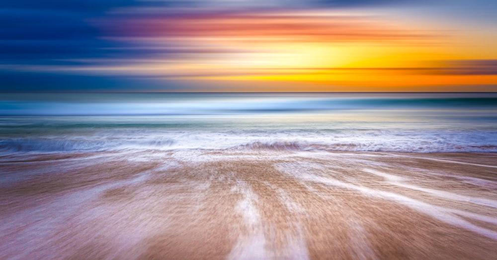 shallow focus photography of coast
