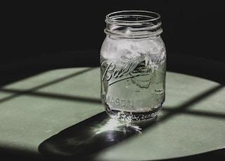 Ball mason jar on table