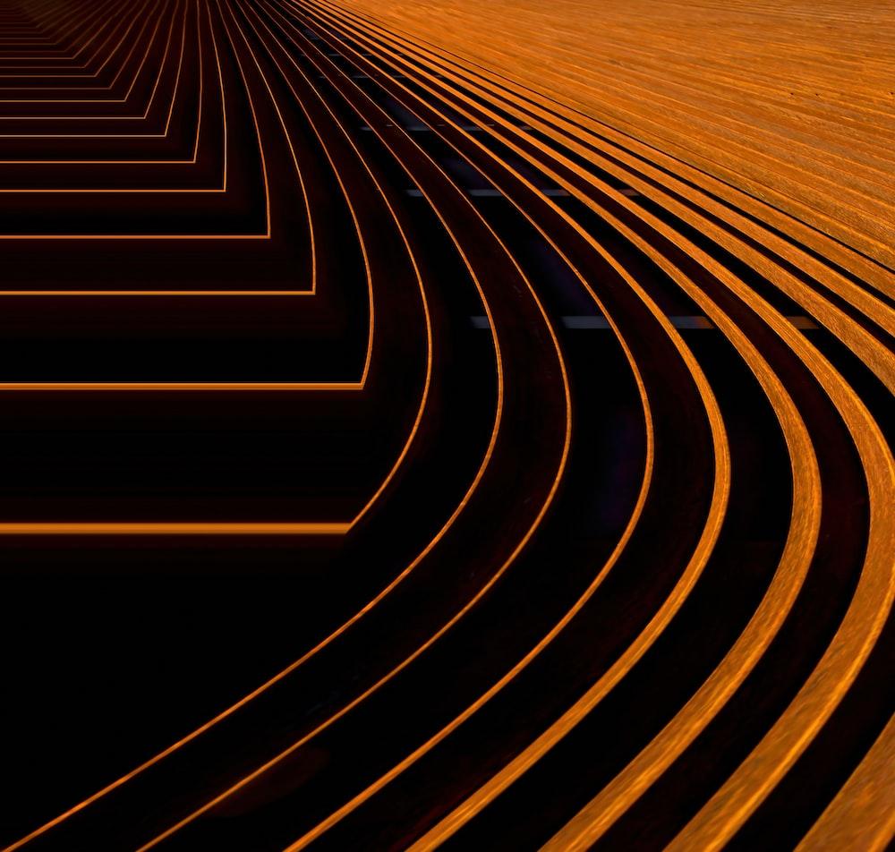orange digital wallpaper