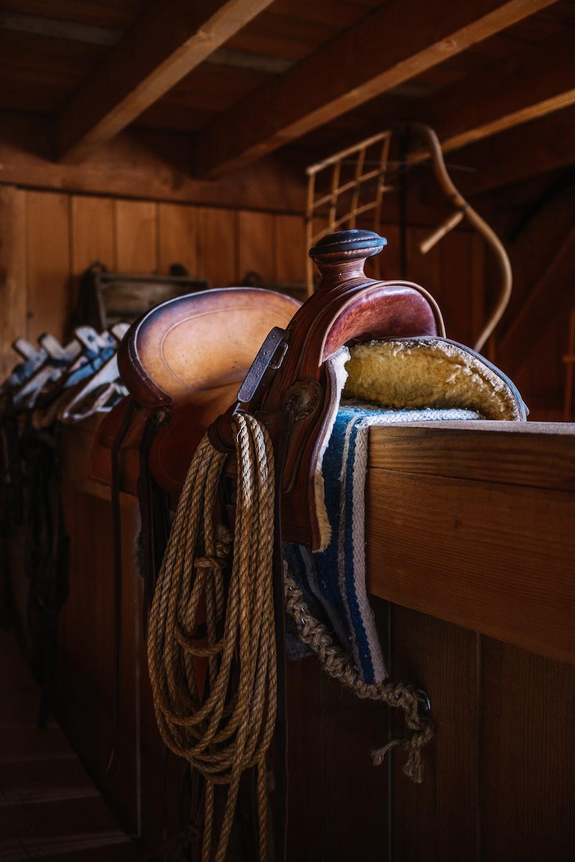 brown wooden handle brown wooden handle