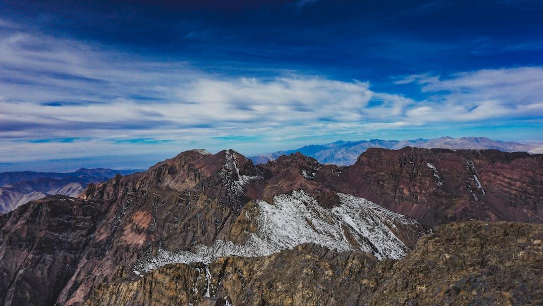Toubkal mountain peak