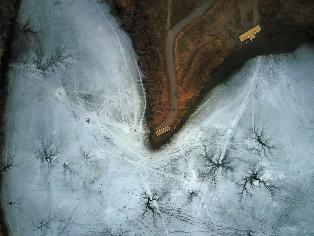 aerial view photography of land
