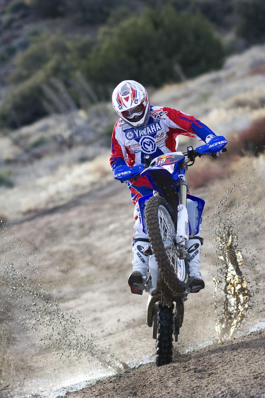 man riding of dirt bike