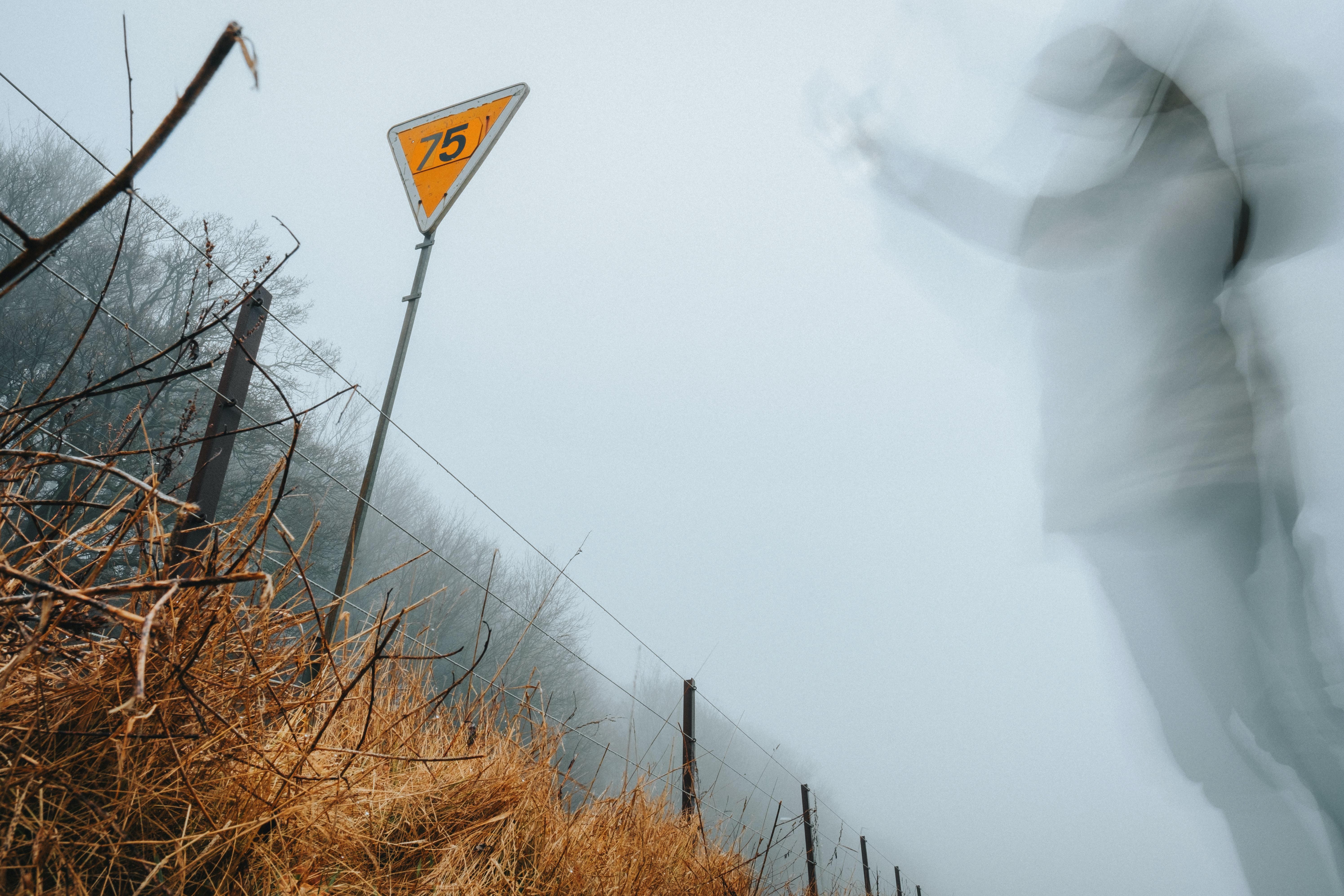 Ghostly figure warning