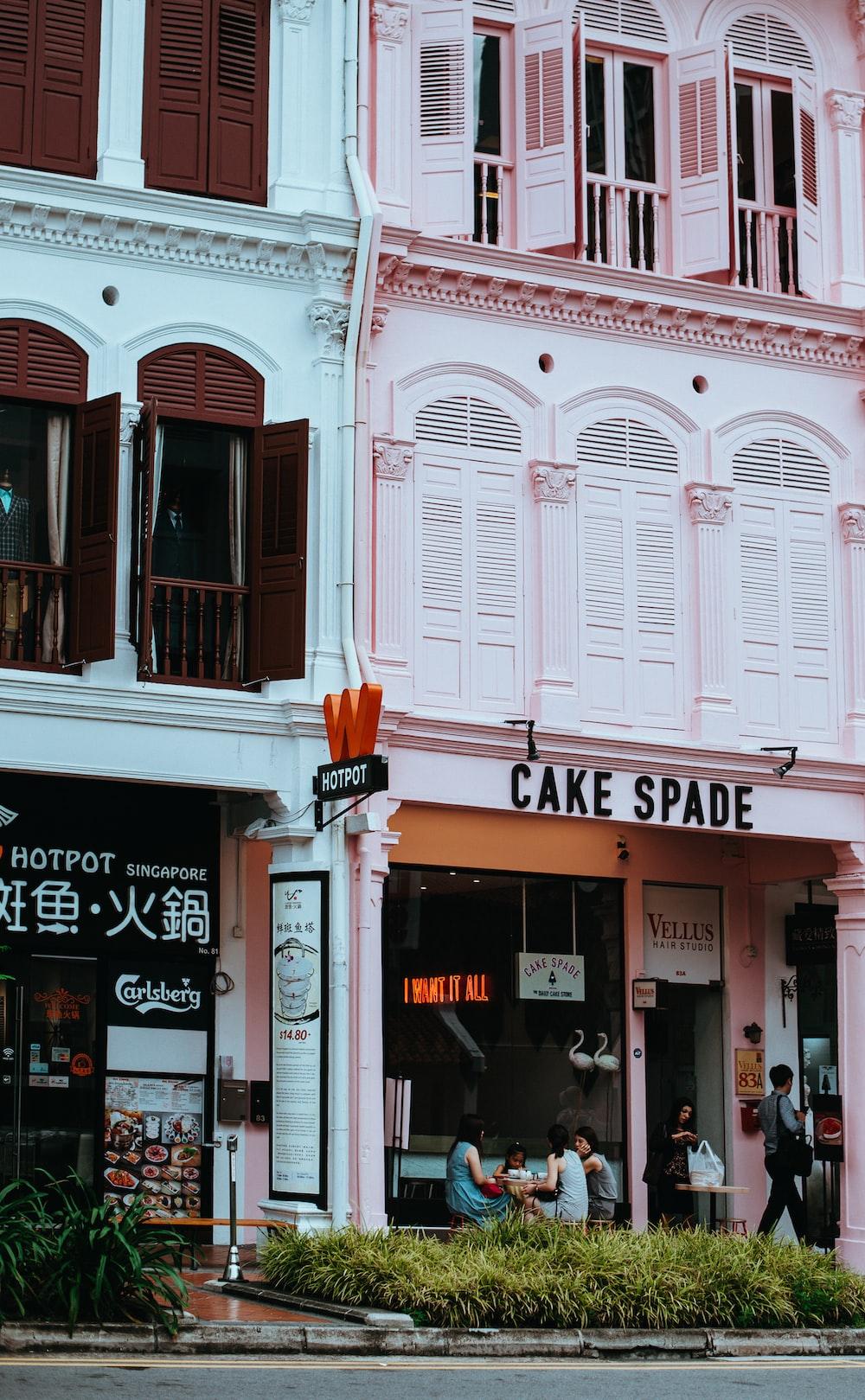 Cake Spade signage