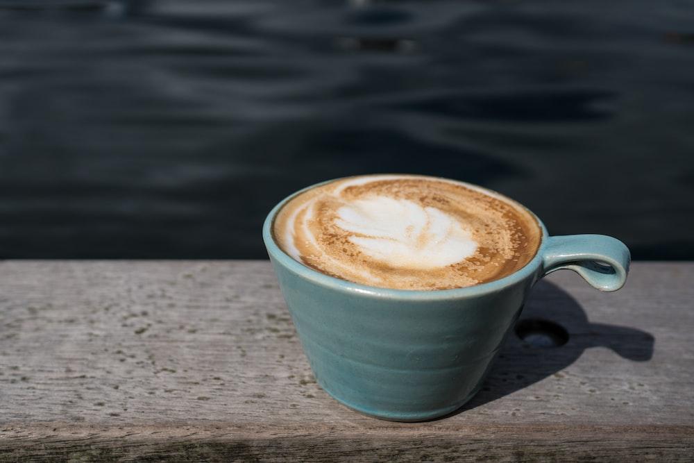 coffee latte in mug