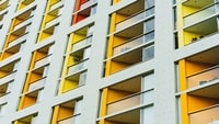 yellow and white city building