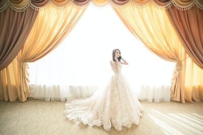 Bride in front of giant window